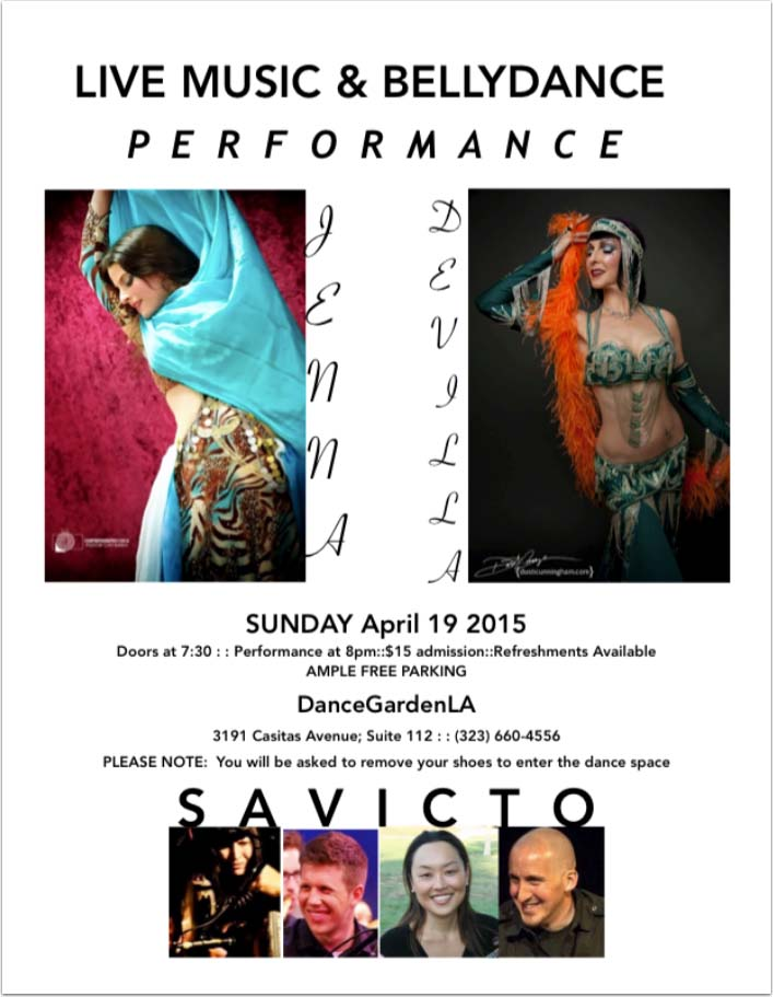 taXim bellydance showcase flyer